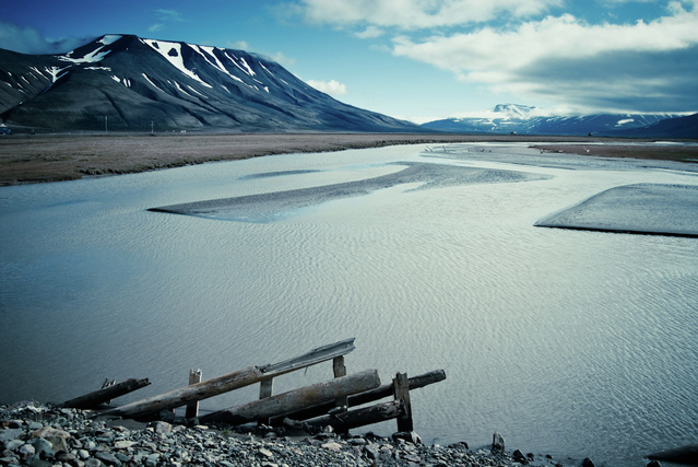 Landscape Norway Svalbard water horizon