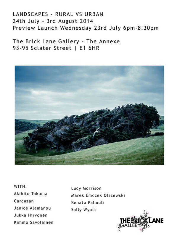 The Brick Lane Gallery exhibition: Landscapes - Rural vs. Urban. Art exhibition will feature photography from Kimmo Savolainen.