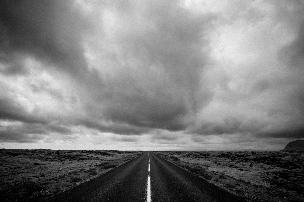 Road - Black and white fineart photography project from Iceland by Kimmo Savolainen Photography.