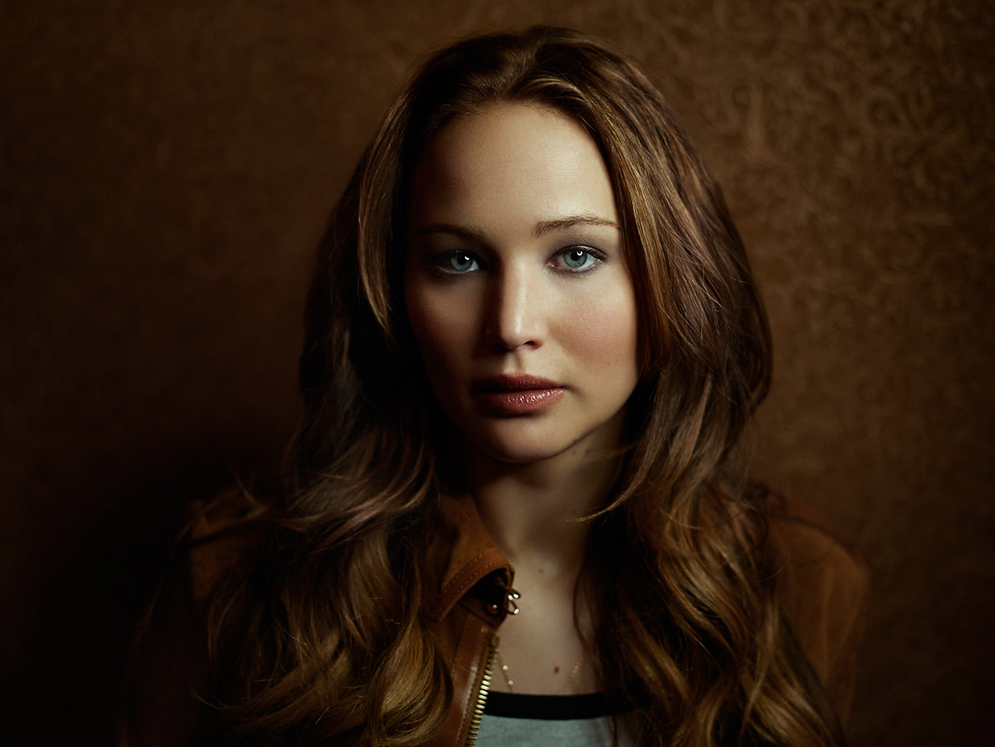 Portrait of Jennifer Lawrence, Actress by photographer Joey Lawrence.