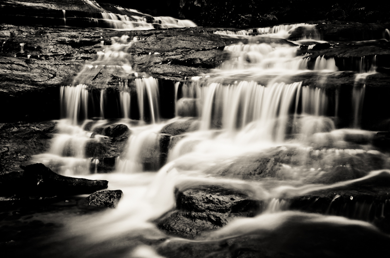A black and white fine art long exposure photo from Blue Mountains, Australia by Kimmo Savolainen Photography.