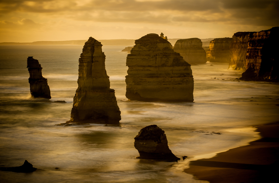 Twelve Apostles Sunset - landscape from The great ocean road, Australia by Kimmo Savolainen Photography.