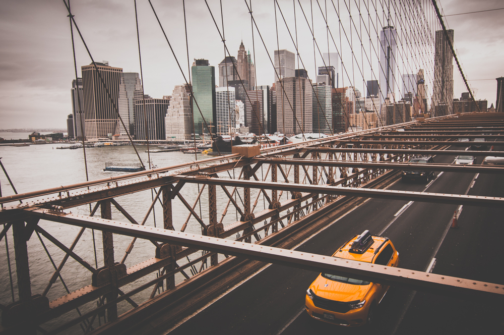 'Crossing the Brooklyn Bridge' - New York, USA 2014, cityscape by Kimmo Savolainen Photography.