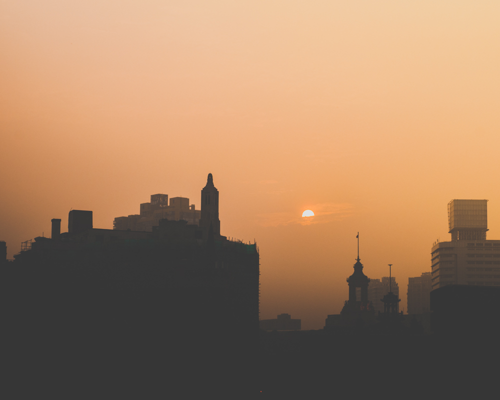 'Shanghai Sunset' - China 2014, urban cityscape by Kimmo Savolainen Photography.