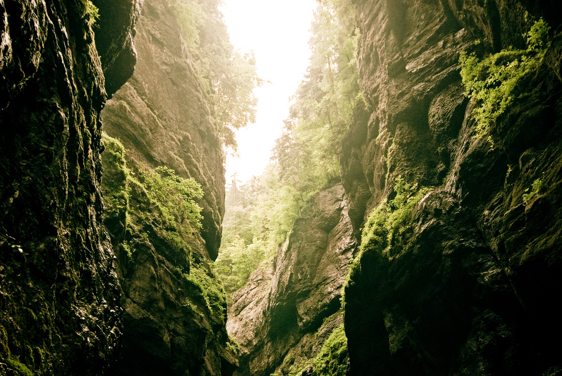 Green Glow - landscape from Partnachklamm, Bavaria, Germany by Finnish photographer Kimmo Savolainen.